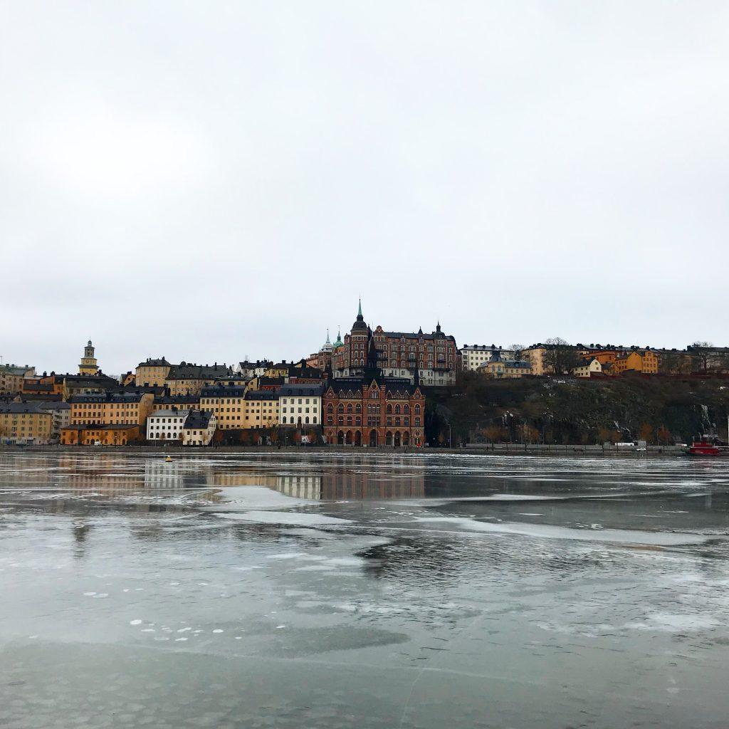 Sodermalm view from RIddarholmen. Stockholm center