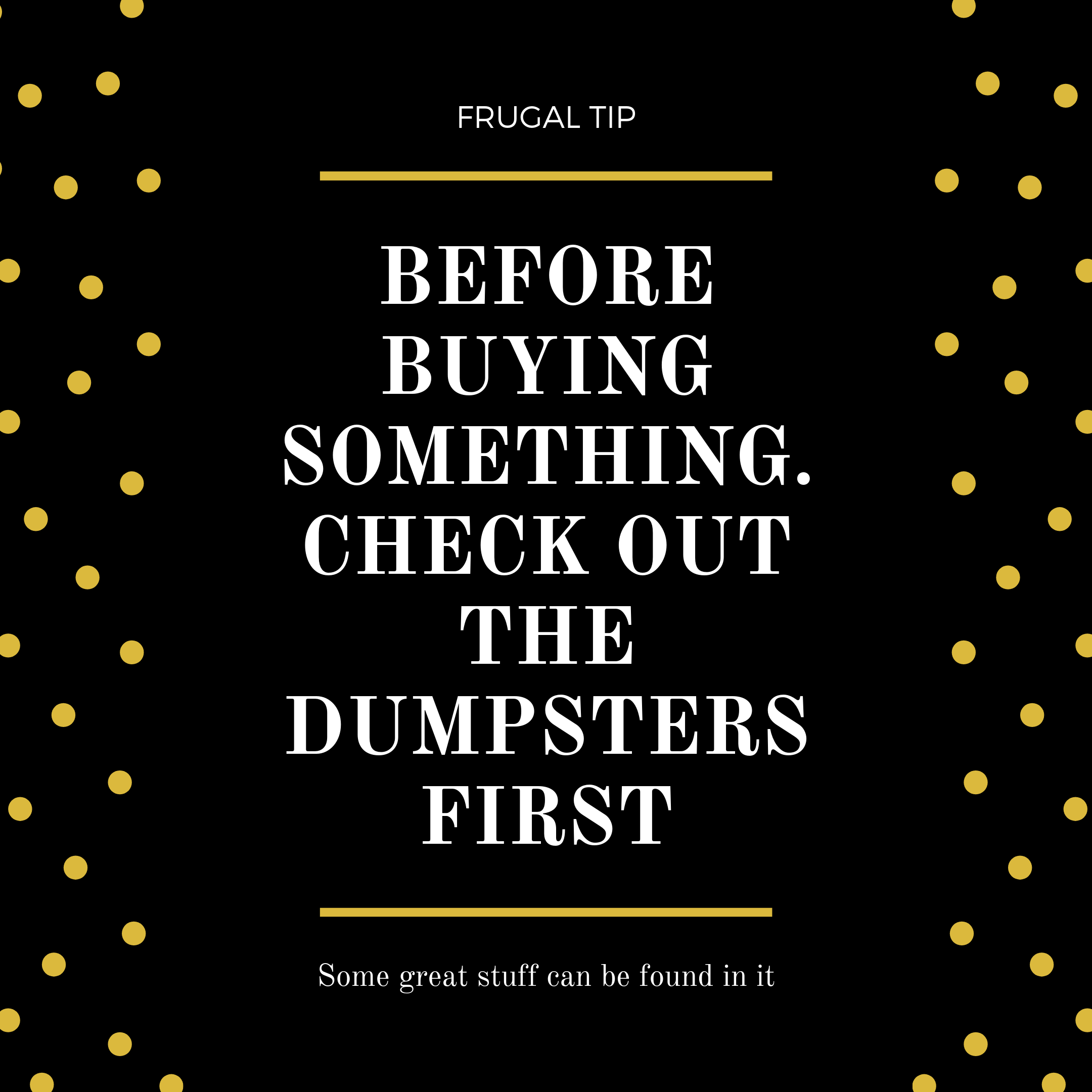 Need new furniture? Check out the dumpster first