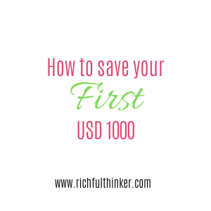 How to save your first $1000.00
