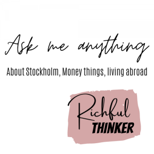 Ask Crista (RT): 'Moving to Stockholm'